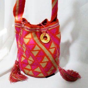 NEW WAYUU TAYA Kilim Serape Ethnic Tapestry Bag